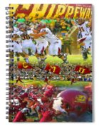Central Michigan Football Collage Spiral Notebook