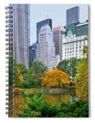 Central Park And Fifth Autumn View Spiral Notebook