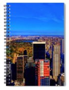 Central Park And New York City In Autumn Spiral Notebook
