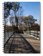 Central Park Bridge Shadows Spiral Notebook