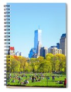 Central Park Panoramic View Spiral Notebook