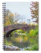Central Park Gapstow Bridge Autumn II Spiral Notebook