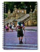 Central Park Hiker Spiral Notebook