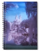 Central Park Lake Willows Color Spiral Notebook