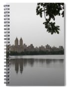 Central Park Reservoir With Reflection Nyc Spiral Notebook