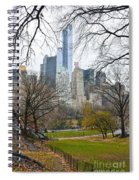 Central Park South Buildings From Central Park Spiral Notebook