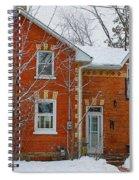 Century Home In Winter 3 Spiral Notebook