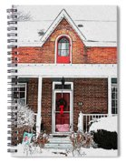 Century Home With Christmas Wreath Spiral Notebook
