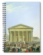 Ceremony Of Laying The First Stone Of The New Church Of St. Genevieve In 1763, 1764 Oil On Canvas Spiral Notebook
