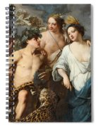 Ceres Bacchus And Venus Spiral Notebook