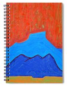 Cerro Pedernal Original Painting Sold Spiral Notebook