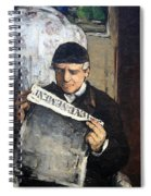 Cezanne's Father Reading Le Evenement Spiral Notebook
