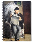 Cezanne's The Artist's Father Reading Le Evenement Spiral Notebook