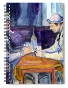 Cezannes The Card Players In Watercolor Spiral Notebook