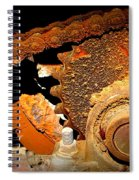 Chain And Sprocket Spiral Notebook