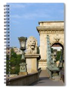 Chain Bridge In Budapest Spiral Notebook
