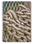 Chained Up Spiral Notebook