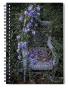 Chair And Flowers Spiral Notebook