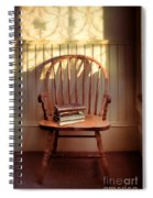 Chair And Lace Shadows Spiral Notebook