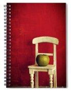 Chair Apple Red Still Life Spiral Notebook