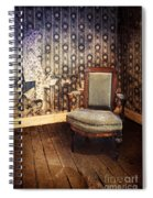 Chair In Abandoned Room Spiral Notebook