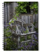Chair In The Garden Spiral Notebook