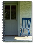 Chair On Farmhouse Porch Spiral Notebook