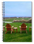 Chairs At The Eighteenth Hole Spiral Notebook