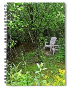 Chairs By The Creek In Summer Spiral Notebook