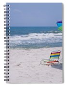 Chairs On The Beach, Gulf Of Mexico Spiral Notebook