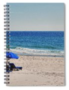 Chairs On The Beach With Umbrella Spiral Notebook