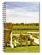 Chairs Overlooking Vineyard Spiral Notebook