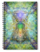 Chakra Tree Anatomy With Mercaba In Chalice Garden Spiral Notebook