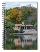 Chalet On The Lagoon Spiral Notebook
