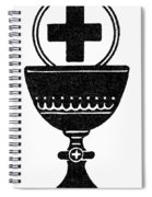 Chalice And Cross Spiral Notebook