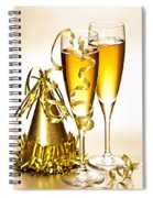 Champagne And New Years Party Decorations Spiral Notebook