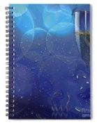 Champagne Blue  Spiral Notebook