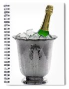 Champagne Bottle On Ice Spiral Notebook