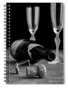Champagne Bottle Still Life Spiral Notebook