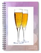 Champagne In Glasses Spiral Notebook