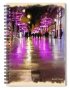Champs Elysees In Pink Spiral Notebook