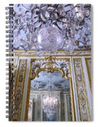 Chandelier Inside Chateau De Chantilly Spiral Notebook
