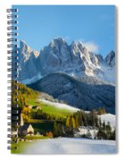 Change Of Season With Fall Turning Into Winter Spiral Notebook