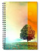 Change Of The Seasons - The Moment When Summer Meets With Fall Spiral Notebook