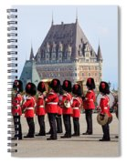 Changing Of The Guard The Citadel Quebec City Spiral Notebook
