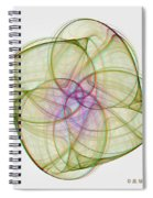 Chaoscope Abstract 3d Stereo - Use Red-cyan Filtered 3d Glasses Spiral Notebook