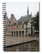 Chapel And Courtyard Chateau Blois Spiral Notebook