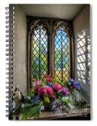 Chapel Flowers Spiral Notebook