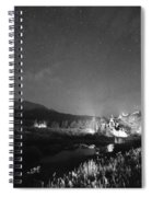Chapel On The Rock Stary Night Portrait Bw Spiral Notebook