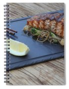 Char Grilled Salmon Spiral Notebook